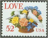 2815 52c Love & Dove F-VF Mint NH 2815nh