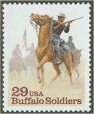2818 29c Buffalo Soldiers F-VF Mint NH 2818nh