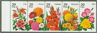 2829-33 29c Garden Flowers Attached strip of 5 Mint NH 2829-33attu