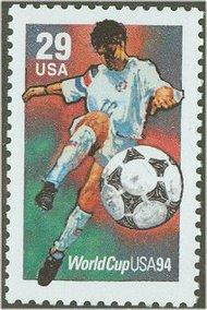 2834 29c World Cup Soccer Full Sheet 2834sh