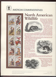 2286-2335 22c Wildlife USPS Cat. 282-86 Commemoratice Panels cp286
