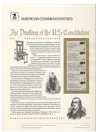 2359a 22c Constitution Booklet USPS Cat. 292  Commemorative Panel cp292