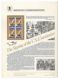 2360 22c Constitution USPS Cat. 294 Commemorative Panel cp294