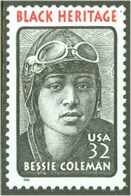 2956 32c Bessie Coleman F-VF Mint NH 2956nh