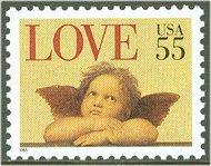 2958 55c Angel F-VF Mint NH 2958nh