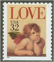 2959 32c Angel Booklet Single F-VF Mint NH 2969nh