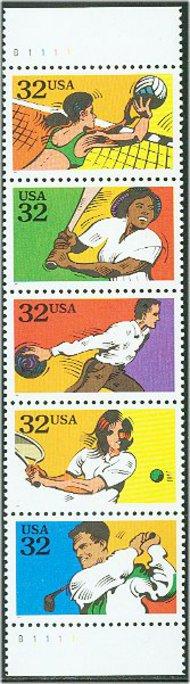 2961-5 2c Recreational Sports Set of 5 Used Singles 2961-5usg