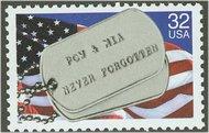 2966 32c POW & MIA ID Tags Full Sheet 2966sh