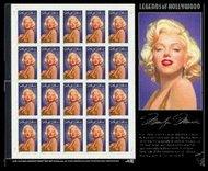 2967s 32c Marilyn Monroe Full Sheet 2967sh