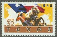2968 32c Texas Statehood Full Sheet 2968sh