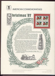 2368 22c Christmas-Contemporary USPS Cat. 298 Commemorative Pan cp298