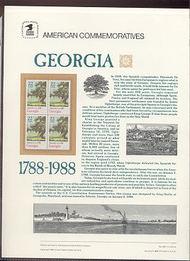 2339 22c Georgia USPS Cat. 299 Commemorative Panel cp299