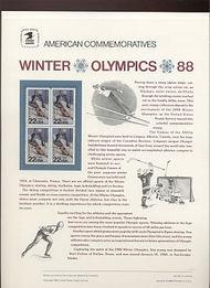 2369 22c Winter Olympics USPS Cat. 301 Commemorative Panel cp301