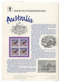 2370 22c Australia USPS Cat. 302 Commemorative Panel cp302