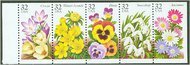 3025-9 32c Winter Garden Flowers F-VF Mint NH 3025-9nh