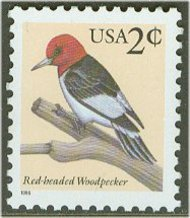3032 2c Red Headed Woodpecker F-VF NH 3032nh
