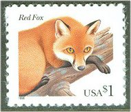 3036 $1 Red Fox Full sheet of 20 3036sh