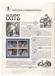 2372-75 22c Cats USPS Cat. 304 Commemorative Panel cp304