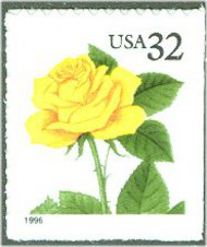 3049 32c Yellow Rose F-VF Mint NH 3049nh