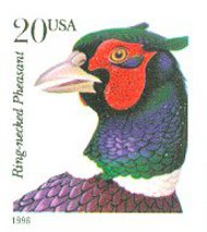 3051 20c Pheasant New Layout F-VF Mint NH 3051nh