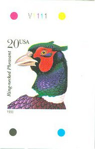 3051a 20c Pheasant New Layout Booklet Pane F-VF Mint NH 3051apn