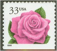 3052 33c Coral Pink Rose F-VF Mint NH 3052nh