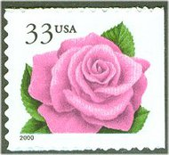 3052E 33c Coral Pink Rose(2000) F-VF Mint NH 3052Enh