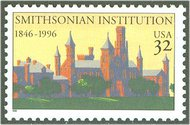 3059 32c Smithsonian Institute Plate Block 3059pb