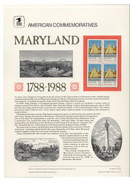 2342 22c Maryland USPS Cat. 306 Commemorative Panel cp306