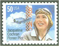 3066 50c Jacqueline Cochran Used Single 3066used