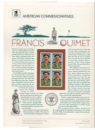 2377 25c Francis Ouimet USPS Cat. 310 Commemorative Panel cp310