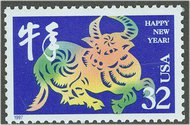 3120 32c Chinese New Year Ox F-VF Mint NH 3120nh