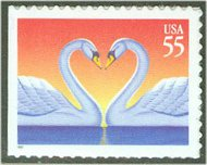 3124 55c Love Swans F-VF Mint NH 3124nh