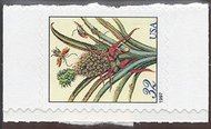 3129a 32c Pineapple, sideways single F-VF Mint NH 3129a