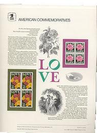2378-79 25c Love USPS Cat. 313 Commemorative Panel cp313