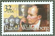 3135 32c Raoul Wallenberg F-VF Mint NH 3135nh