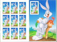 3137 32c Bugs Bunny Sheet of 10 F-VF Mint NH 3137sh