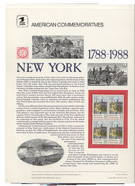 2346 25c New York Statehood USPS Cat. 314 Commemorative Panel cp314