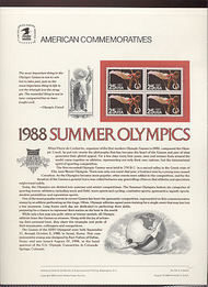 2380 25c Summer Olympics USPS Cat. 315  Commemorative Panel cp315