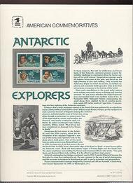 2386-89 25c Antarctic Explorers USPS Cat. 317 Commemorative Pa cp317