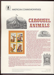 2390-93 25c Carousel Animals USPS Cat. 318 Commemorative Panel cp318