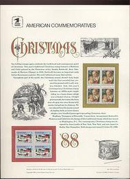 2399-2400 25c Christmas set USPS Cat. 319 Commemorative Panel cp319