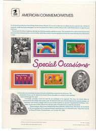 2395-98 25c Special Occasions USPS Cat. 320 Commemorative Panel cp320