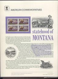 2401 25c Montana Statehood USPS Cat. 321 Commemorative Panel cp321