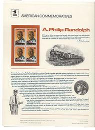 2402 25c A. Philip Randolph USPS Cat. 322 Commemorative Panel cp322