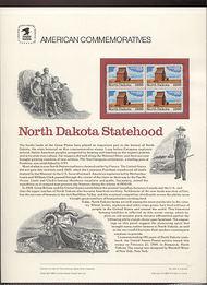 2403 25c North Dakota USPS Cat. 323 Commemorative Panel cp323