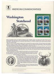 2404 25c Washington Statehood USPS Cat. 324 Commemorative Panel cp324