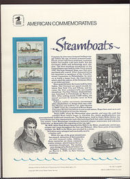2409a 25c Steamboats Booklet USPS Cat. 325 Commemorative Panel cp325