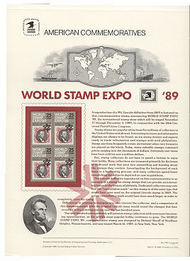 2410 25c World Stamp EXPO USPS Cat. 326 Commemorative Panel cp326