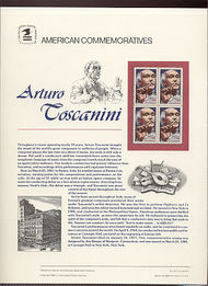 2411 25c Arturo Toscanini USPS Cat. 327 Commemorative Panel cp327